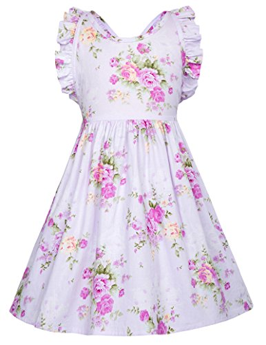 Girls Sleeveless Vintage Floral Party Dresses 3-4yrs -