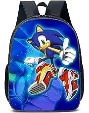 Sonic rugzak Sonic The Hedgehog cartoon tas modeaccessoire Sonic rugzak voor kinderen cadeau kinderen schooltas (40 x 30 x 15 cm)