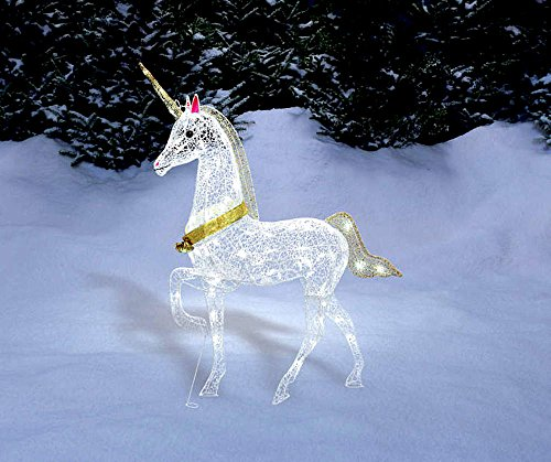 magical christmas led lighted unicorn indooroutdoor yard decoration light lawn ornament sculpture by morning - Christmas Horse Yard Decorations