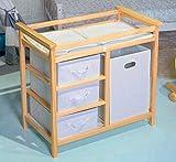 Baby Changer Tray Cabinet Diaper Bumper Cover Storage Box Hamper Set Newborn Top Dresser 4 Tier Insert Table Wooden Portable & Ebook by AllTim3Shopping.