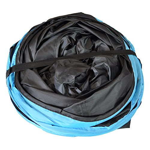 Purrfect Feline Longer Tunnel of Fun, Collapsible 3-Way Cat Tunnel Toy with Crinkle (Large, Blue)