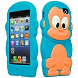 BasTexWireless Bastex 3D Character Silicone Case for Apple iPhone 5c - Baby Blue & Tan Monkey