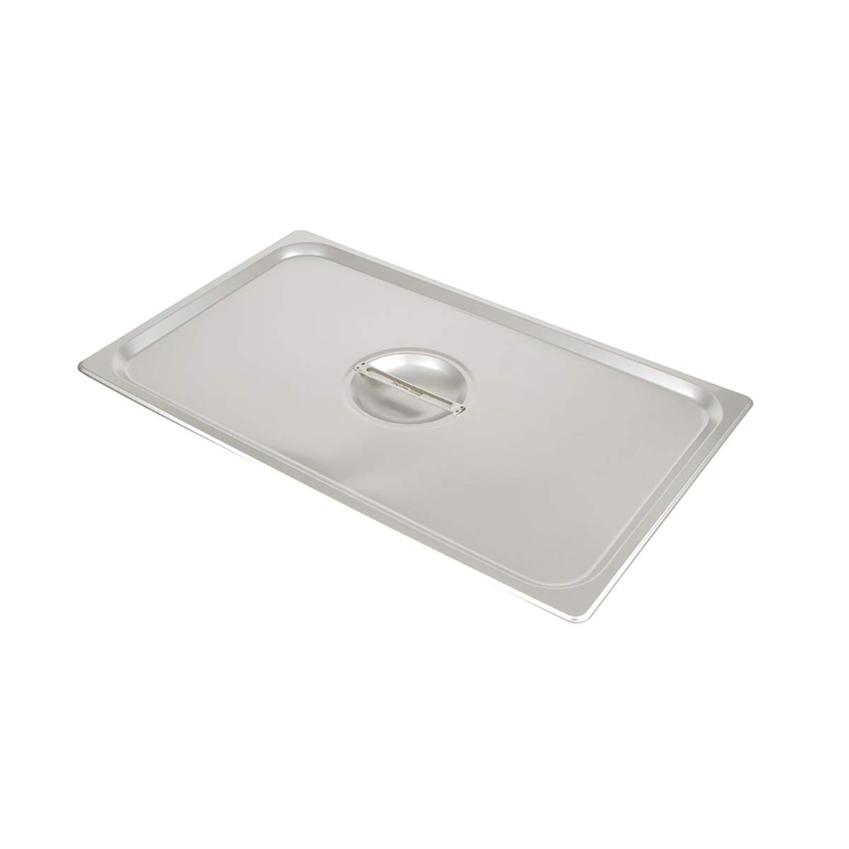 Update International STP-100CHC S/Steam Table Pan Cover, Full Size Notched, 18-8 Stainless Steel AISI-304