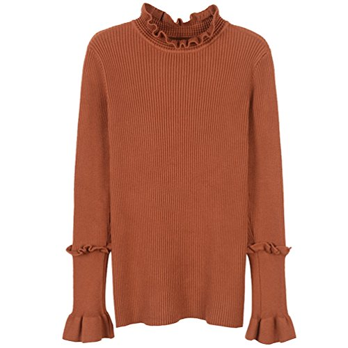 Rouge YiLianDa Hauts Sexy Slim Sweatshirt Longues Femme Manches Sweater Tricot Jumpers Pull HUxPrqH