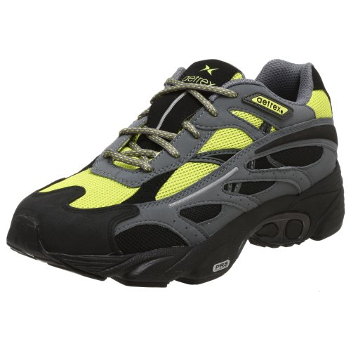 Aetrex Men's Sedona Trail Runner,Black/Citron,8.5 M US