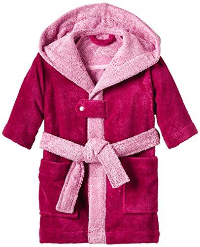 Vossen Mädchen Bademantel Bixie M, Einfarbig, Gr. 116, Rosa (cranberry 002)