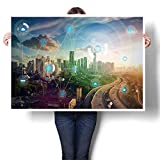 Best Wireless Carriers - SCOCICI1588 Canvas Wall Art City and Wireless Communication Review