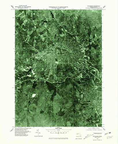 Hill Rollstone (YellowMaps Fitchburg MA topo map, 1:25000 Scale, 7.5 X 7.5 Minute, Historical, 1975, Updated 1981, 26.9 x 22 in - Tyvek)