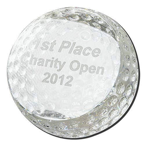 BANBERRY DESIGNS Golf Ball Trophy - Crystal Golf Ball for Golfers - Golfing Trophy or Decorative (Best Banberry Designs Glass Desks)