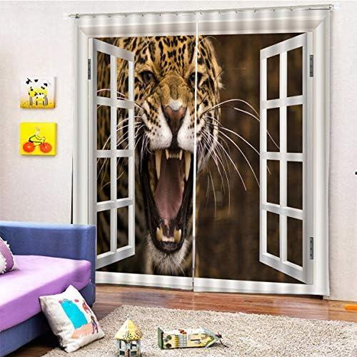 QinKingstore 洗える印刷カーテンドアカーテンホーム寝室リビングルームカーテンホテル装飾カーテン150 * 166センチ