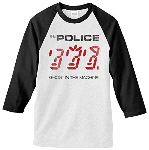 Police 'Ghost In The Machine' White Baseball Jersey T-Shirt