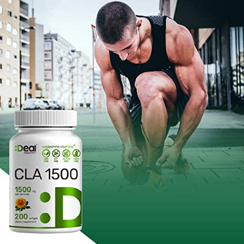 Deal Supplement CLA 1500mg Per Serving, 200 Softgels, Super Extra Strength 95% Conjugated Linoleic Acid from Safflower Oil, Manage Weight and Lean Muscle 6
