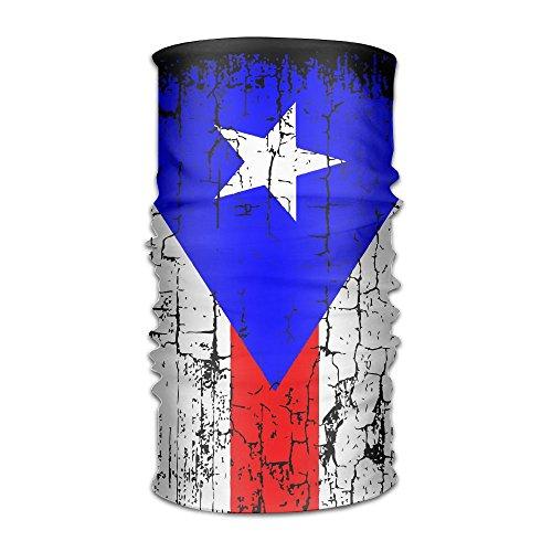 Bandana Headband Stylish Vintage Puerto Rico Flag Multifunction Magic Handscarf,Face Mask,Neck Gaiter,Balaclava,Sweatband,Head Wrap,Outdoor Sport UV Resistence. (Bandanna Cool Stay)