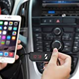 OMorc Wireless FM Transmitter Radio Adapter Car Kit