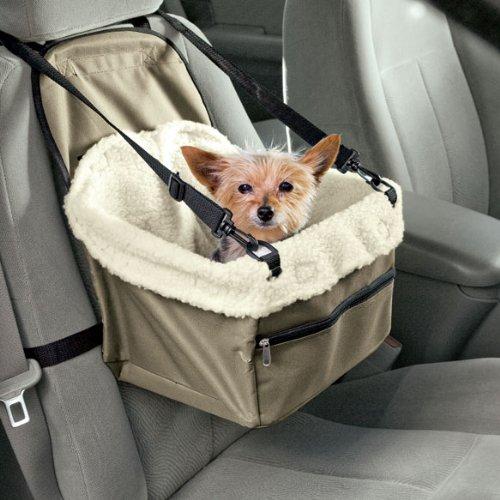 DOBO Siège-auto pour chiens et chats avec sangle de sécurité et doublure moelleuse