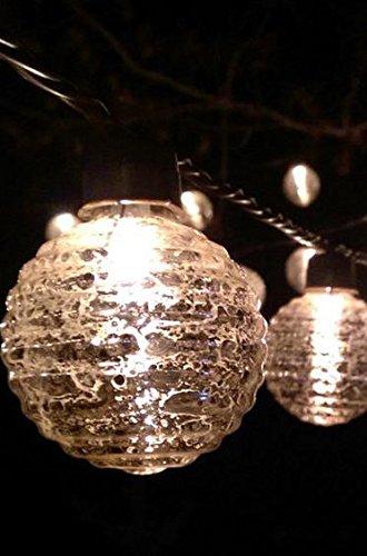 Richland Globe Lights Mercury Glass String Lights 6' Set of 6