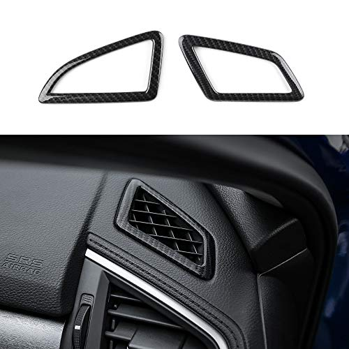 - Thenice for 10th Gen Civic ABS Carbon Fiber Style Dashboard Air Vent Trims Wind Outlet Decoration Stickers for Honda Civic 2016 2017 2018 2019