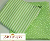 """Crib Sheet 28x52 100% cotton Color: Green Apple from AB Lifestyles """"Sherbet Crib Collection"""""""