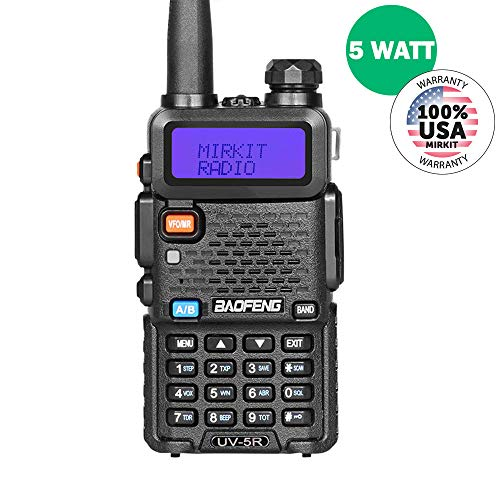 BaoFeng UV-5R MK2 2019 Handheld Dual Band Two Way (Ham) Radio, Mirkit -