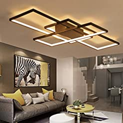 Interior Lighting LED Living Room Dining Room Flush Mount Ceiling Light Fixtures Ceiling Hanging Lighting Dimmable Remote Acrylic… modern ceiling light fixtures