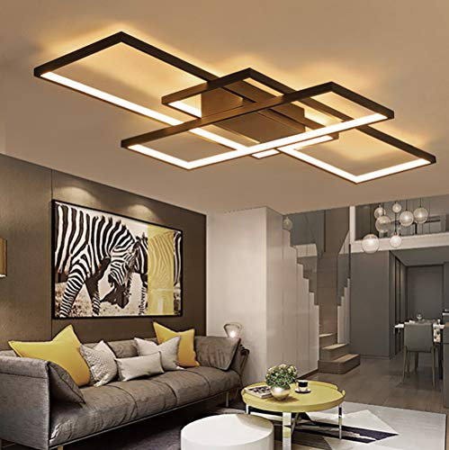 LED Living Room Dining Room Flush Mount Ceiling Light Fixtures Ceiling Hanging Lighting Dimmable Remote Acrylic Chandeliers Modern Designer 3 Rectangle Hotel Lobby Kitchen Bedroom Decor Ceiling Lamp