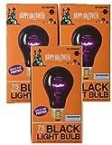 Tools & Hardware : Triple Pack 75 Watt Halloween Black Light Bulbs
