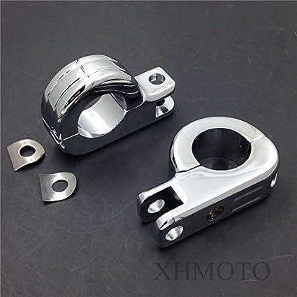 Motorcycle 1.5 Engine Guard Footpeg P Clamps for YAMAHA XV250 Roadstar XV1700 XV1600 BLACK