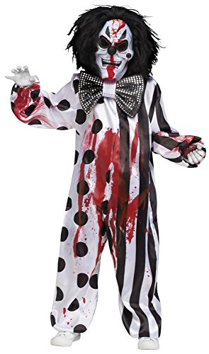 Fun World Bleeding Killer Clown Childrens Costume, Medium, Multicolor -