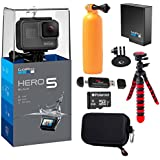 GoPro HERO5 Black Camera, Extra GoPro Rechargeable battery, Ritz Gear Action Camera Case, Flexible Tripod, Polaroid 8GB MicroSD card and Accessory Bundle