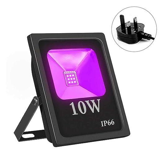 Dedeka Proyector LED, 10 W, luz LED, luz Negra, luz Ultravioleta ...