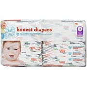 Honest Diapers, Multi Colored Giraffes, Size 2, 40 Count
