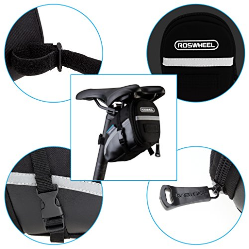 Roswheel 13196 Bike Bicycle 1.2 Liters Capacity Seat Pack Saddle Bag