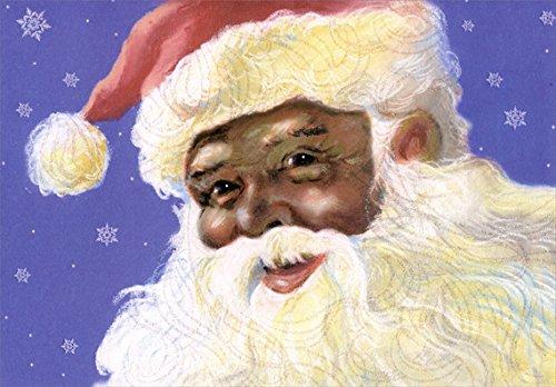 Search : Smiling Santa: African American - Designer Greetings Box of 18 Christmas Cards