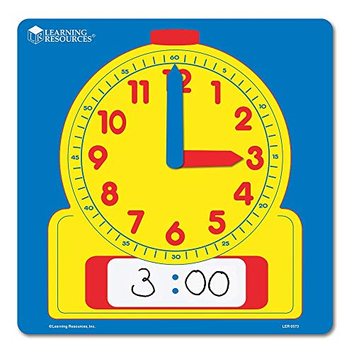 Learning Resources Write & Wipe Demonstration Clock (Renewed)