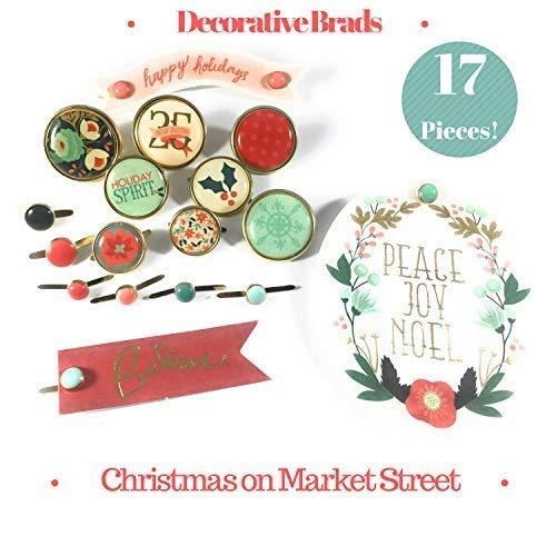 Christmas On Market Street Decorative Brads | Buttons, Dots & Ephemera | 17 ()