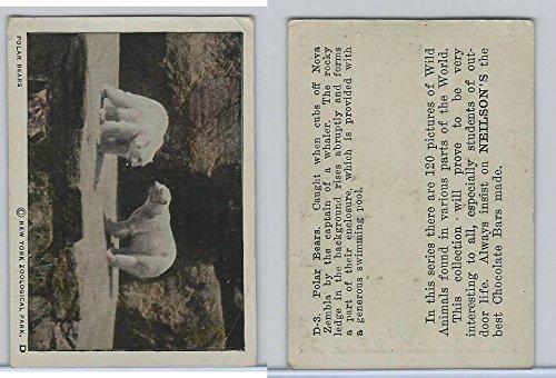 V67 Neilson's Chocolate, Wild Animals, 1930's, D3 Polar Bears