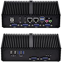 Qotom-Q350P Business Mini PC 2 LAN Ports Support AES-NI Intel Windows Linux Computer (4G RAM + 256G SSD)