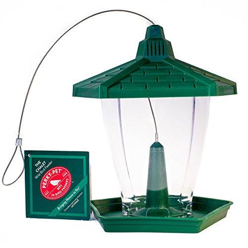 - Perky-Pet HF950 The Chalet Wild Bird Feeder, 1.25 pounds, Green