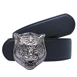 Yuangu Men's Big Tiger Buckle 38-mm Italian Leather Belt