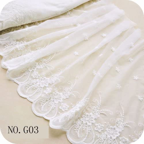 price for 1 yard White and black  lace trim with amazing design