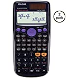 Casio Exam Approved Scientific Calculator: Homework/Classwork - 2 Pack (Black)