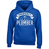 plumbers crack cover - Property Of A Plumber - Girl Girls Hoodie Kids L Royal
