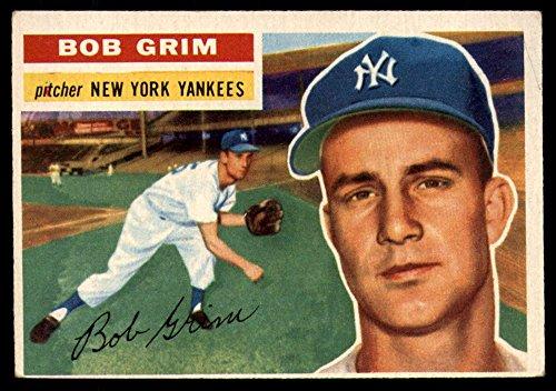 Baseball MLB 1956 Topps #52 Bob Grim DP VG/EX Very Good/Excellent - 1956 Topps Baseball