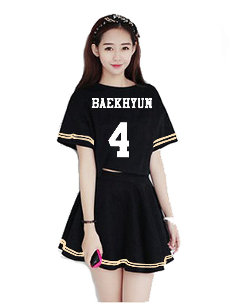 Kpop Exo Korean Skirt Sm T Shirt Tee Girl Dress Sehun Outfit 10 Korea Luhan Tao Suho Sports Outdoors
