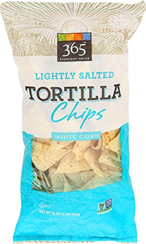 365 Everyday Value, Lightly Salted Tortilla Chips, White Corn, 16 (Lightly Salted Chips)