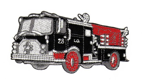 Fire Truck Rescue Firefighter Car Sew-on Iron-on Patches Embroidered Applique Badge