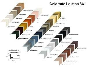 Colorado MDF marco de fotos marcos del cartel 43 x 57 cm Color: negro mate aquí con pared posterior y cristal acrílico