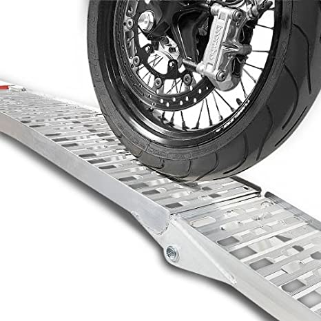 1x ConStands Alu III Auffahrrampe Peugeot Tweet 50// RS Motorrad Alu Dreifach-Klappbar Auffahrschiene bis 270 kg