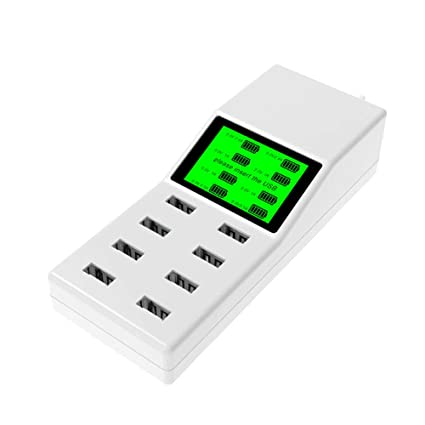 ASDFGH USB Multi-Cargador, 8 Puertos con Pantalla LED ...