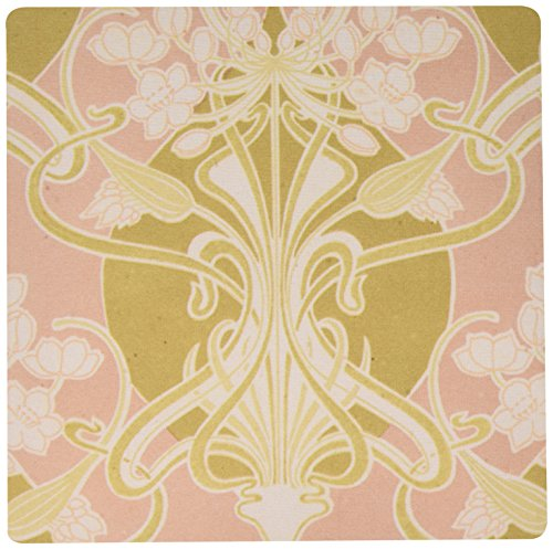 Price comparison product image 3Drose LLC 8 X 8 X 0.25 Inches Mouse Pad, Vintage Art Nouveau Lovely Flowers and Knots Abstract Design (Mp_113450_1)